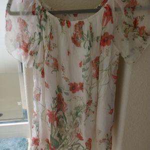 Luisa Ricci Floral Silk Blouse
